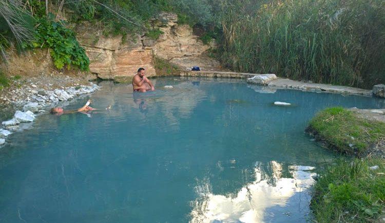 heiße Thermalquellen bei Castellammare del Golfo